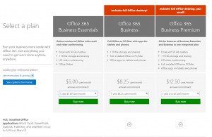 Office 365 email signup 1