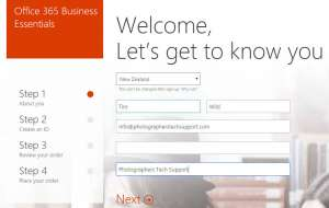Office 365 email signup 2