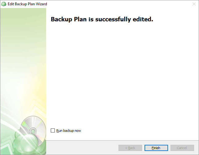 CloudBerry Backup Wizard confirmation screen